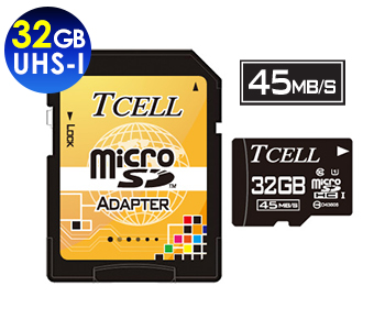 microSDHC UHS-I 32GB 45MB/s Flash Memory Card