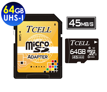 microSDXC UHS-I 64GB 45MB/s Flash Memory Card